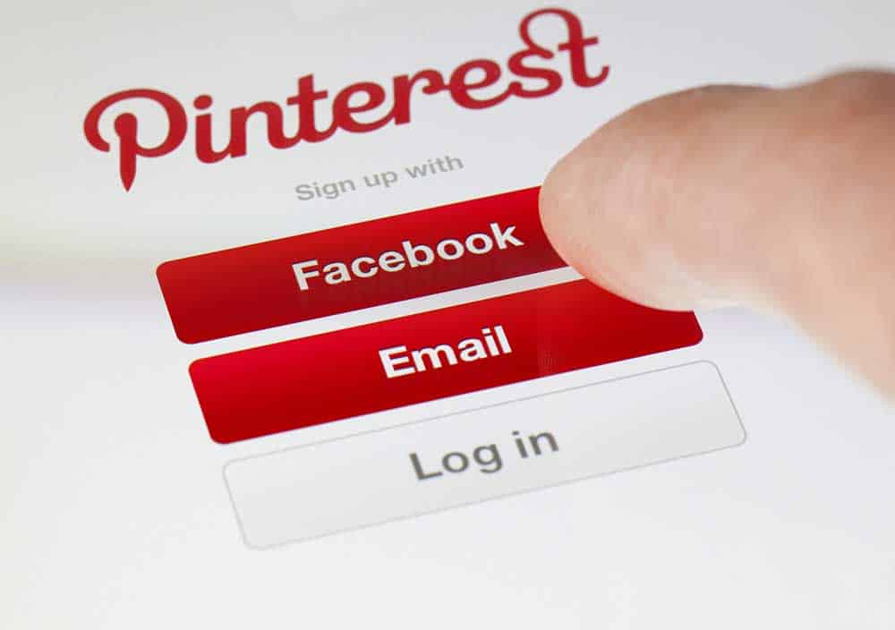logging in the pinterest