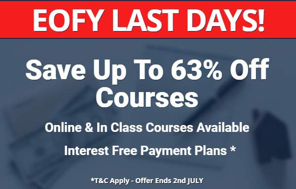 EOFY Full Licence Course Save 63% Off