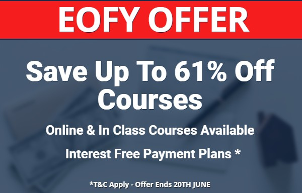 EOFY Full Licence Course Save 60% Off