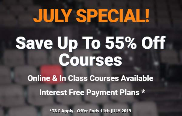 July Special Full Licence Course Save 55% Off