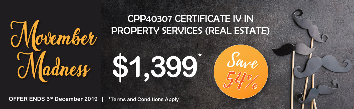 CPP40307 Certificate IV Property Services Banner